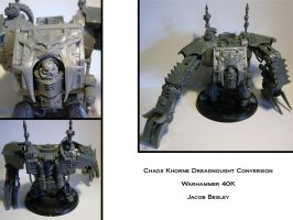 Khorne Dreadnought Conversion by chaotea