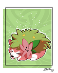 Sleeping Shaymin by TheCynicalHound