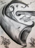 Charcoal Abstract 05 by guardian-of-moon