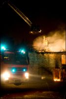 Owl Hall destroyed by fire by magaz