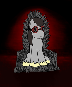 Ground Zero on Iron Throne by DuskSwordsman