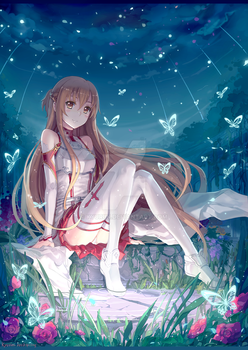 Asuna by Kyuriin