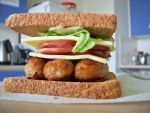 Ultimate Bacon Sausage Sammich by mlsterben