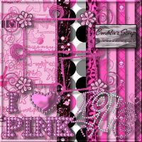 I Love Pink Scrap Kit by ArtandMore