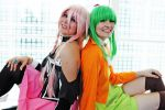 VOCALOID 3 - Pink and Green by SuperWeaselPrincess