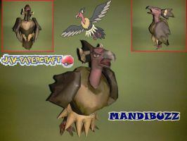 pokemon: mandibuzz papercraft by javierini