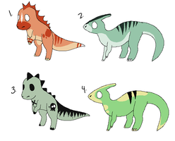 Dinosaur Adoptables CHEAP (ALL CLOSED) by Sliced-Penguin