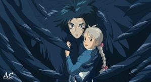 Howl and Sophie Vector by axelmartinez22