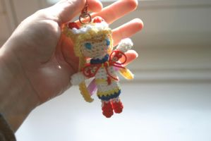 Super Sailor Moon amigurumi charm by Herzstueck-Handmade