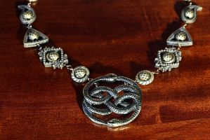 Neverending story necklace - Two snakes by CatherinetteRings