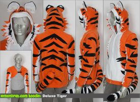 Deluxe Tiger Hoodie (w/ Crop Top)! by lemonbrat