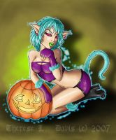 Halloween: Hyper Kitty Girl by thereseldavis