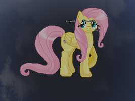 Fluttershy pixel art re-make by kakashio8