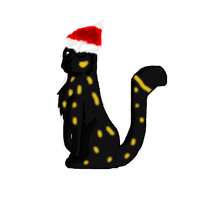 Me in a santa hat by AskChelseaTheCat