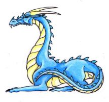 Laying dragon by Skychaser