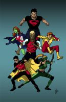 Young Justice colors by peetietang