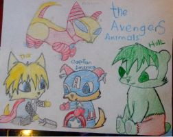 the avengers animals by domocienta