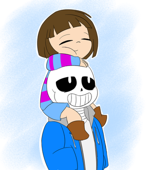 Kid and Skelepun by Psycie