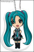 Miku Key Chain by OurDestinyDesigns