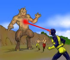 Harryhausen tribute - Cyclops versus Cyclops by Nick-Perks