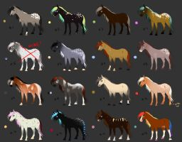 horse adoptable batch 1 by Lilafly
