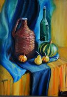 Oil still life by Halyna-Venhlinska