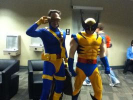 Ohayocon 2012: Cyclops and Wolverine by BigAl2k6