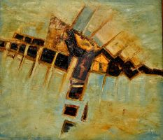 ABSTRACT-3, OIL ON CANVAS by swaroop1947