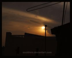sunset in the sky by souldiers