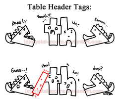 Table Header Tags by Crystal-Moore