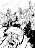 Transformer Zombies munch by Inker-guy