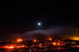 Lava Flow By Moonlight by DallasNagata