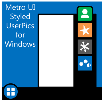 Metro Styled UserPics for Windows by dAKirby309