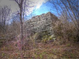 Old Barn Foundation Ramp, HDR by Lectrichead