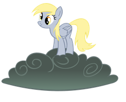Derpy on cloud by DWeegee