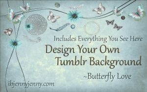 Design Your Own Tumblr Background Butterfly love by ibjennyjenny