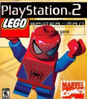 lego spiderman ps2 cover by megasonicbros