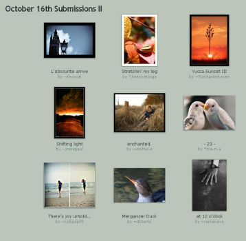 October 16th Submissions II by Optimal-Photo