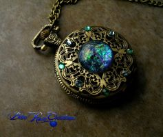 Betwixt Regal Pocket Watch - Ocean Waters Blue Sea by LadyPirotessa