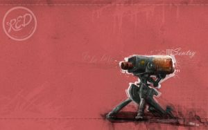 Mr Sentry Red Wallpaper by GAVade