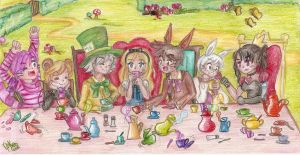 Alice's Mad Tea Party by Nika-Tachikawa