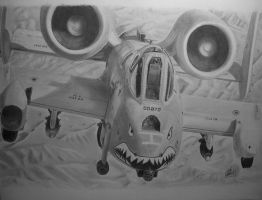 A-10C Warthog in graphite by Mikes-stuff