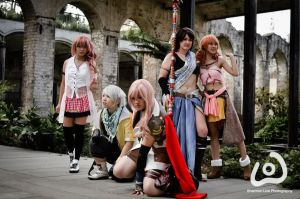 Final Fantasy XIII: Battle team by Saabon