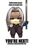 FF7: Chibi Sephy Knows by ShiroiNeko-sama