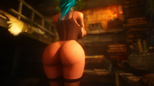 Dat Butt #17: No Panties by Toshihirohei