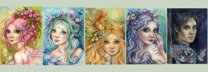 ACEO  Set 1 by JannaFairyArt