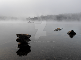 Fisherman In The Mist by BlakkReign
