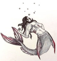 Inktober Day #13: Frightened Fish by gearsGlorified