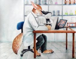 Professor Fennec by Kelii