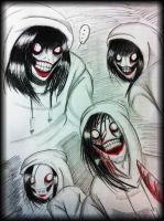 Jeff The Killer doodles -4- by XxLevanaxX